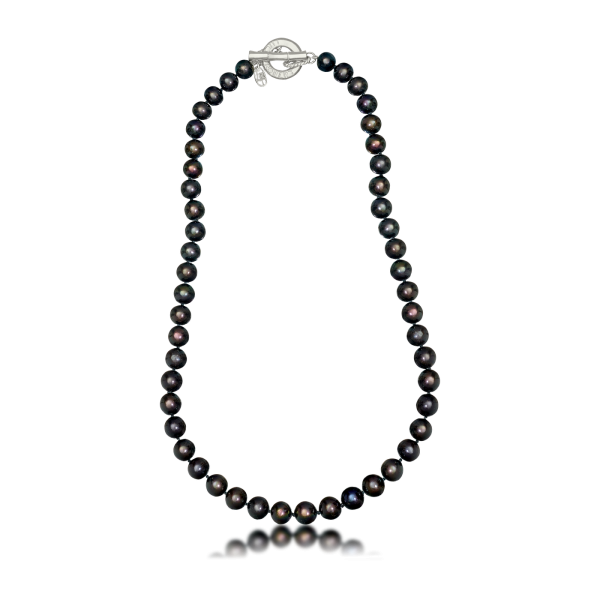 LR-109 Black Pearl Necklace