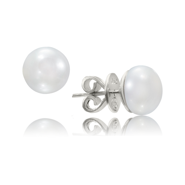 10mm White Pearl Studs