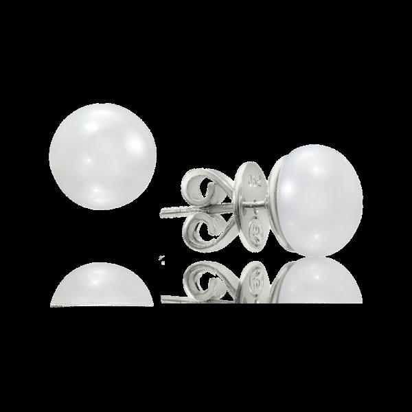 LR-137 13mm White Pearl Studs