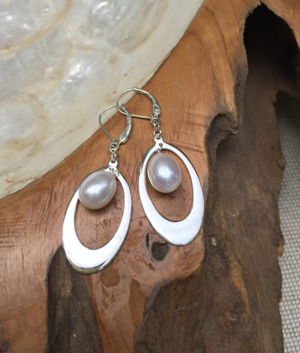 Sterling Silver Oval Loops